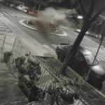 BMW-om M4 proletjela preko kružnog toka, sve zabilježile kamere