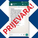 Građani oprez, MUP ne prikuplja osobne podatke putem WhatsAppa i sličnih aplikacija
