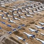 Pista s preko 400 prizemljenih zrakoplova snimljena iz zraka