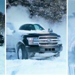 Driftanje po snijegu s električnim kamionetom Ford F-150